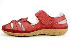 Spring Step Surpass Mary Jane Strap Sandal Red Leather Size 40 W US 9 W
