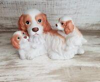 VINTAGE HOMCO PORCELAIN DOG W/ PUPPIES FIGURINE - PUPPY  3 THREE