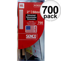 "Senco 700pk Bright Basic Angled Finish Nails 15 Ga. x 2"" A302000 NEW"