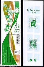 Carnet 1521 La Lettre Verte a 3 ans de 2014 neuf ** taille douce non plié LUXE
