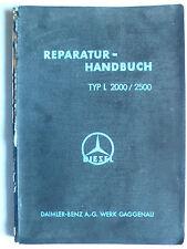 Daimler-benz diesel l 2000/2500 reparación-manual, edición 1939, 160 páginas