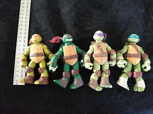 Teenage Mutant Ninja Turtles Retro Action Figures Set of 4 Leo Donny raph mi Toy