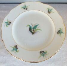 Plate Mounted Dessert Porcelain Paris Decor Lily Braid Gold Period 19ème (5)