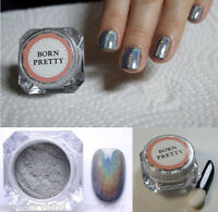 1.5g/Box  Holographic Nail Art Powder Laser Chrome Glitter Pigment
