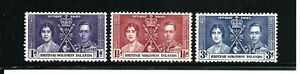 British Solomon Islands Stamps- Scott # 64-66/-Set-Mint/H-1937-OG