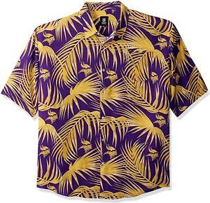 Minnesota Vikings Hawaiian Shirt, Men's Small, Boys 2XL-3XL, New, Free Shipping