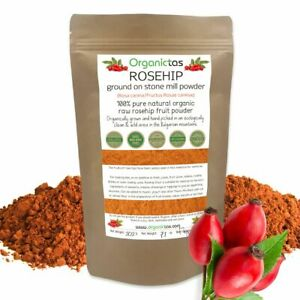 Organic ROSEHIP Powder 100% Natural Vitamin C (Rosa Canina) Superfood 200g / 7oz