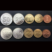 [J-2] Zimbabwe Set 5 Coins, 1+5+10+25+50 Cents, 2014, UNC