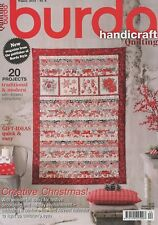 Burda Style Handicraft Quilting Magazine #4 Winter 2014 CREATIVE CHRISTMAS!