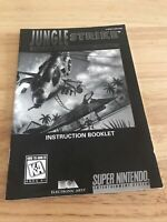 Jungle Strike Super Nintendo Instruction Manual Booklet NO SNES Game SHIPS FREE