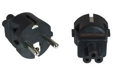Adapter Stromadapter Mickeymaus / Kleeblatt Buchse auf Schutzkontaktstecker