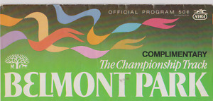 RARE VINTAGE HORSE RACING PROGRAM BELMONT PARK RACE TRACK JULY 12