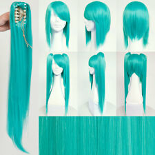 "VOCALOID Hatsune Miku 40"" Long Hair w/Ponytail Teal Wig for Cosplay & Halloween"