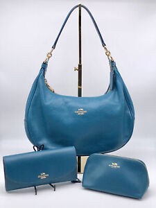 🌟SET! ALL EUC! COACH Hobo Shoulder Bag, Wallet, AND Cosmetic Case Purse
