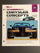 "Chrysler Concepts ""Weird & Wonderful""  IMP Hot Cars Spec Sheet Awesome L@@K"