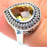 Large Citrine 925 Sterling Silver Ring Size 6.25 Ana Co Jewelry R54030