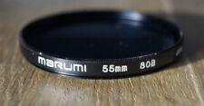 Marumi 55m filter for camera color temperature changing circular filter 80B