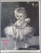 Xmas Fairy Dress Shoes Pants Doll's Clothes Vintage Knitting PATTERN     A26
