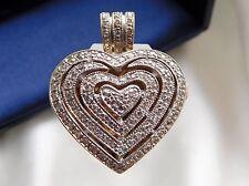 gr. Diamant Herz Medaillon, Anhänger, Gold 585 /14k,  1,00ct Diamanten