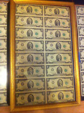 (16) $2 1976 Federal Reserve *STAR* Notes -- UNCIRCULATED-16 X$ 2 UNCUT SHEET