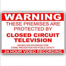 1 x Video Surveillance Security Sticker -24hr Sign CCTV Camera External Warning
