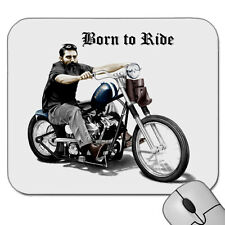 NED KELLY  ON  A  HARLEY   BORN TO RIDE    SUCH IS LIFE      MOUSE PAD