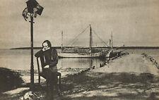 1940s Vintage Lionel Wendt Sri Lanka Boat Dock Photo Photogravure Print