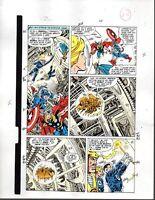 Marvel Avengers 301 color guide art page 14: Captain America/Fantastic Four/Thor