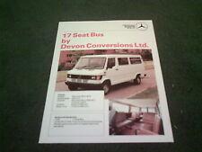1989 DEVON CONVERSIONS MERCEDES BENZ 307D 17 SEAT BUS MINIBUS UK BROCHURE TN T1