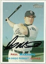 2006 Topps Heritage PAUL MCANULTY Signed Card PADRES autograph OXNARD, CA