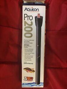 NEW Aqueon Pro 200W Precision Calibrated Adjustable Red Heating Aquarium Heaters