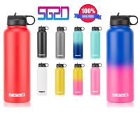 Hydro Stainless Steel Water Bottle Flask Insulated Straw Lid Cap 18oz 32oz 40oz