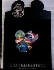 Disney Santa Stitch Holding a Snow Globe Dreaming of Mele Kalikimaka LE 250 Pin