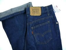 Vintage 70s Levis dark jeans high waist straight Usa Denim womens 15 Nwt 30w mom