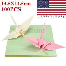 100 Sheets Origami Paper Colorful Double Sided Square Craft Folding Papers US