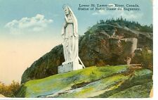 SAGUENAY,QUEBEC-STATUE OF NOTRE DAME-LOWER ST.LAWRENCE-PRE1920-(STATUE-588)