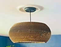 Modern Corrugated Cardboard Hanging Light in the Manner of Gregory Van Pelt