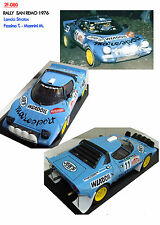 DECALS 1/43 LANCIA STRATOS FASSINA RALLY SANREMO 1976