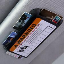 Auto Sun Visor Holder for Driver License, Registration, Insurance, C Cards-Black