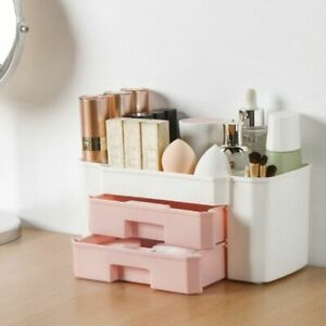Plastic Cosmetics Box Makeup Organizer Large Makeup Nail-Polish Swabs-Holder