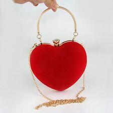 Fashion Women Heart Handbag Party Prom Clutch Evening Shoulder Bag Wedding Purse