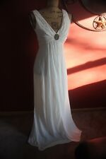BCBG MAX AZRIA DRESS WHITE EVENING COCKTAIL PARTY XS FORMAL GOWN BALLROOM WOMEN