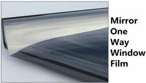 Grey Silver Window Tint One Way Mirror Solar Tint Privacy Home Sticker Control