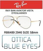Occhiali da Vista RX RAYBAN AVIATOR RB 6489 2946 58mm optics Ray Ban Eyeglasses