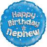"Happy Birthday Nephew Blue 18"" Foil Helium Balloon Party Decoration"