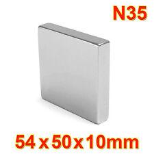 One Large Very Strong Neodymium Cuboid Magnet 54 x 50 x 10 mm N35 DIY MRO Craft
