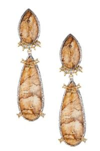 Alexis Bittar Elements Crystal Studded Spur Trimmed Earrings $345