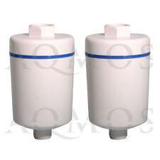 2 x Duschfilter Wasserfilter Badfilter Reisefilter KDF Chlor Dusche Kalkfilter