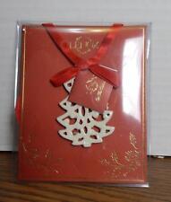 Lenox Pierced Christmas Tree Fine Ivory China Holiday Gift Charm
