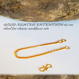 gold extender or extention extension chain necklace, bracelet sets 4.5 in